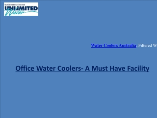 Australia-An Office Water Coolers