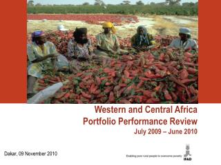 Western and Central Africa Portfolio Performance Review July 2009 – June 2010