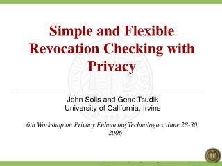 John Solis and Gene Tsudik University of California, Irvine