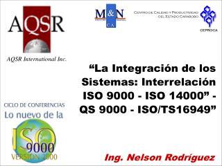 Ing. Nelson Rodríguez