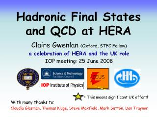 Hadronic Final States  and QCD at HERA