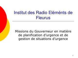 Institut des Radio El�m�nts de Fleurus