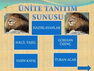 ÜNİTE TANITIM SUNUSU