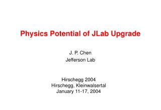 Physics Potential of JLab Upgrade