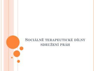 Sociálně terapeutické dílny sdružení práh