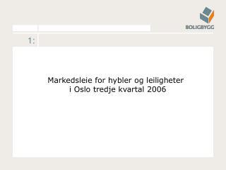 Markedsleie for hybler og leiligheter  i Oslo tredje kvartal 2006
