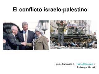 El conflicto israelo-palestino