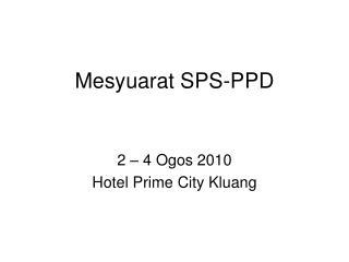 Mesyuarat SPS-PPD