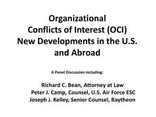 On The Regulatory Front- OCI: