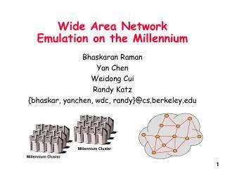 Wide Area Network Emulation on the Millennium