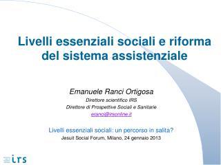 Livelli essenziali sociali e riforma del sistema assistenziale