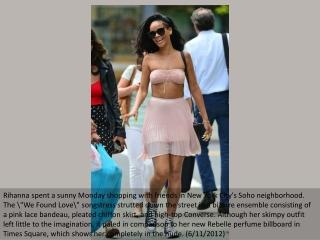 Rihanna struts her stuff in the Big Apple