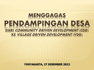 YOGYAKARTA, 27  DESEMBER 2013