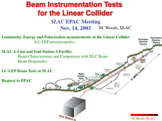Beam Instrumentation Tests  for the Linear Collider