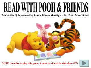 READ WITH POOH & FRIENDS