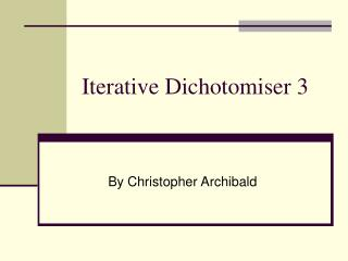 Iterative Dichotomiser 3