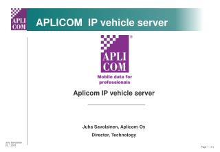 APLICOM  IP vehicle server