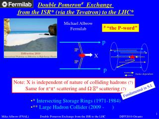 Double Pomeron #   Exchange  from the ISR* (via the Tevatron) to the LHC*