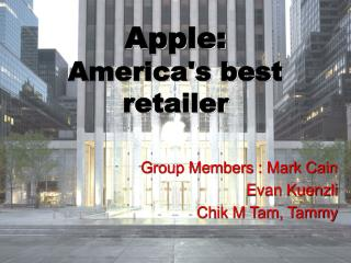 Apple: America's best retailer