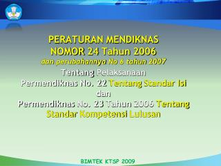 BIMTEK KTSP 2009
