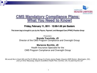 CMS Mandatory Compliance Plans: What You Need to Know!