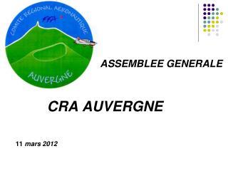 CRA AUVERGNE  11  mars 2012