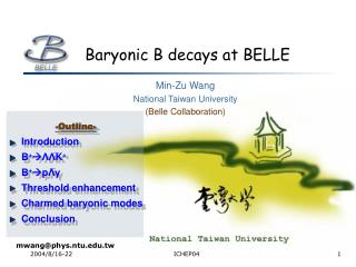 Baryonic B decays at BELLE