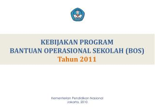 Kementerian Pendidikan Nasional Jakarta,  20 10
