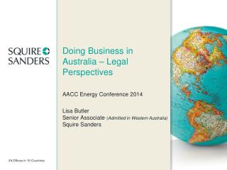 Doing Business in Australia – Legal Perspectives