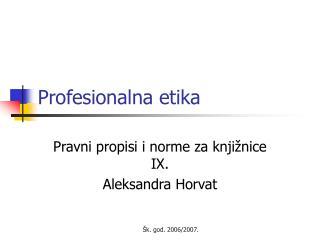Profesionalna etika
