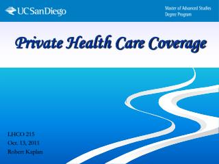 Private Health Care Coverage