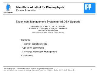 Max-Planck-Institut für Plasmaphysik Euratom Association