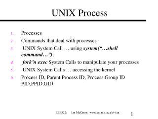 UNIX Process