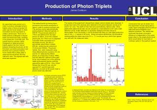 Production of Photon Triplets James Cockburn