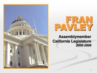 Assemblymember California Legislature 2000-2006