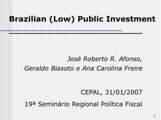 ______________________________ Jos� Roberto R. Afonso,  Geraldo Biasoto e Ana Carolina Freire
