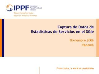 Captura de Datos de Estadísticas de Servicios en el SGIe