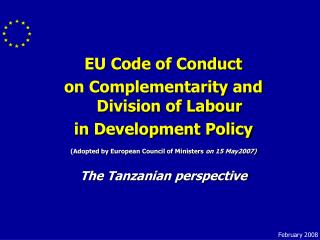 EU Code of Conduct  on Complementarity and Division of Labour in Development Policy