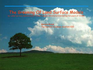 The Greening Of Land Surface Models