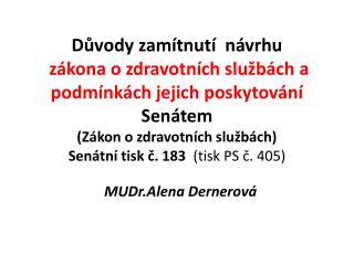 MUDr.Alena Dernerov�