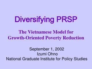 Diversifying PRSP