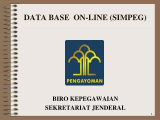 DATA BASE   ON-LINE (SIMPEG)