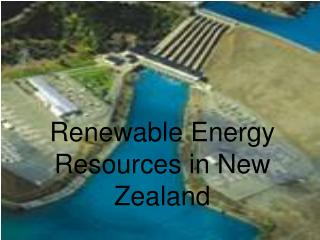 Renewable Energy Resources in New Zealand