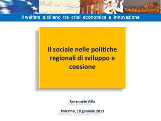 Il sociale nelle politiche regionali di sviluppo e coesione