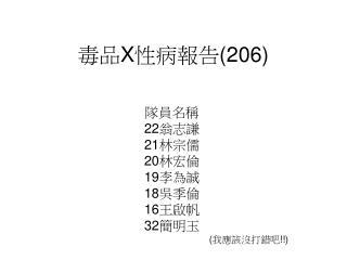 毒品 X 性病報告 (206)