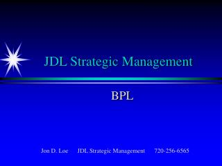 JDL Strategic Management