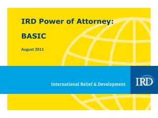 IRD Power of Attorney: BASIC