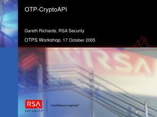 OTP-CryptoAPI