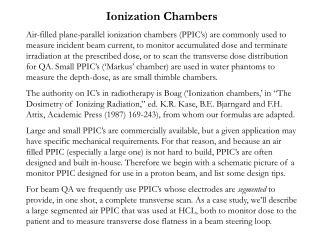 Ionization Chambers