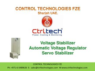 Voltage Stabilizer. Voltage Regulator. Servo Stabilizer.